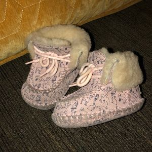 Ugg Shoes Baby Slippers Sz 0/1 Infant Boots PINK
